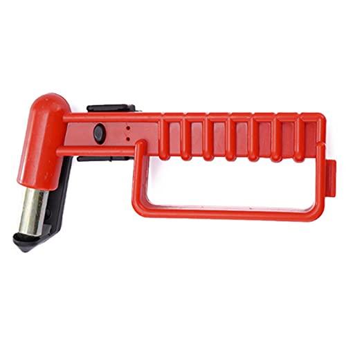 Vecksoy Martillo de seguridad 2 en 1 para coche, herramienta de escape, cortador de cinturón de seguridad y martillo de ventana para rescate de casa y refugio de emergencia (1 unidad)