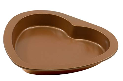 Non-Stick Original Heart-shaped Baking Pan in Copper Finish - 9-Inch