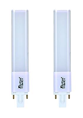 2-Pack G23 Led Bulb 400 Lumens Ra 80 PL Lamp CFL Led Compact Bulb G23 Led Tube Light For Indoor Lighting