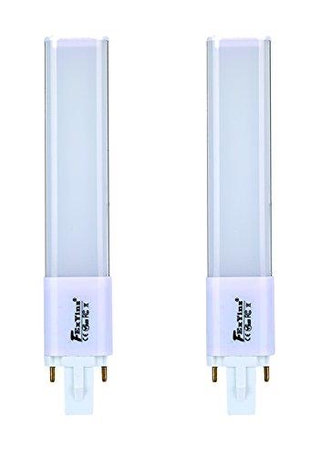 FExYinz Pack de 2 G23 LED Bombilla 2 años de garantía 6 Watt Blanco Natural 4000K 600 Lúmenes Ra 90 Enchufar 2 Clavija PL Lámpara LED Bombilla Compacta G23 LED Tubo Luz