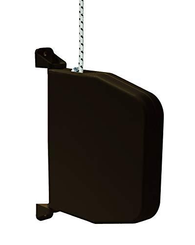 !! NEU!! Selve Mini-Schnurwickler Aufputz schwenkbar mit 5m Schnur 4,5mm Stärke, kostenfreier Versand (inkl. Rolladenschnur, braun)