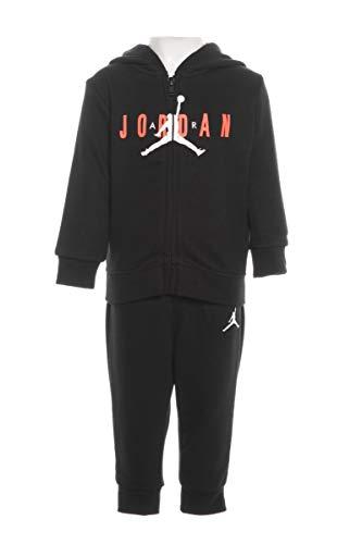 Nike Jordan Trainingsanzug für Kinder, Schwarz, Schwarz 12 Monate
