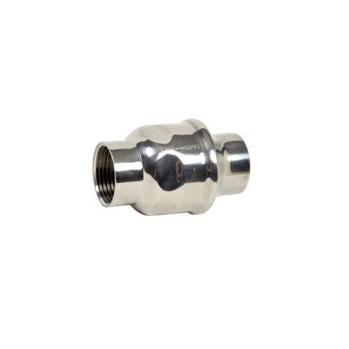 Syveco 327010 Serie 327 304 Edelstahl Einflügeliges Gestempeltes Scheibenventil, FPM-Dichtung, PN16, 2-1/2