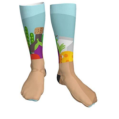 Calcetines de compresión para mujeres y hombres, calcetines gruesos de tacón con bolsa de papel reforzada, ideales para correr, deportes atléticos, viajes en avión, embarazo, fútbol