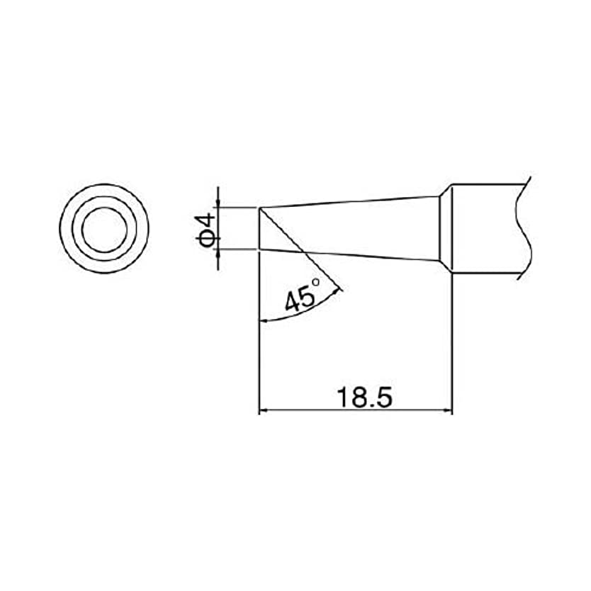 日常的にアフリカ評論家白光/白光 こて先 6.5C型【T19-C65】(4096428) [その他] [その他]
