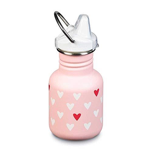 Klean Kanteen Unisex– Babys Classic Trinkflasche, Millenial Hearts (matt), 355ml