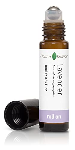 Lavender Essential Oil Roll On, Calming Essential Oils for Sleep and Relaxation, Pure Lavender Essential Oil and Jojoba Oil for Skin Nourishment, Leak-Proof Rollerball, Stress Relief Roll-on (10 mL)