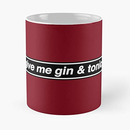 Give Me Gin Tonic - Oasis Band Tribute Classic Mug Gift The Office 11 Ounces Funny White Coffee Mugs.