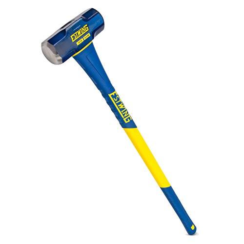 Estwing 10-Pound Hard Face Sledge Hammer, 36-Inch Fiberglass Handle (ESH-1036F)