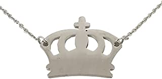 Utkarsh Silver Color Fancy & Stylish Trending Valentine's Day Special Metal Stainless Steel King Queen Crown Logo Locket P...