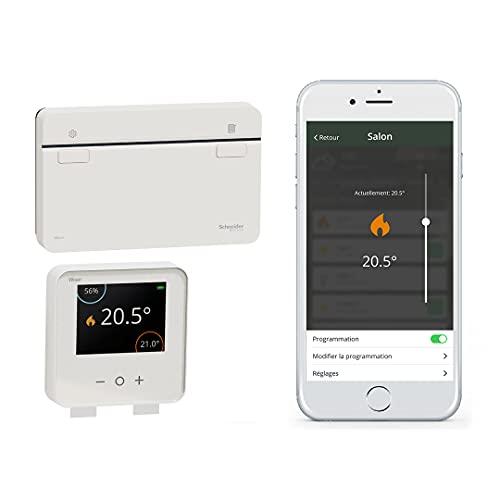 Kit termostato 1 canal de la gama Wiser con aplicación Heat Hub, 15 x 9,3 x 7 centímetros, color blanco (referencia: CCTFR6901)