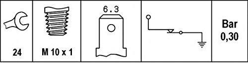 HELLA 6ZL 003 259,011 Interruptor de control de la presión de aceite , 12V , Número de conexiones: 1 , atornillado , Contacto ruptor