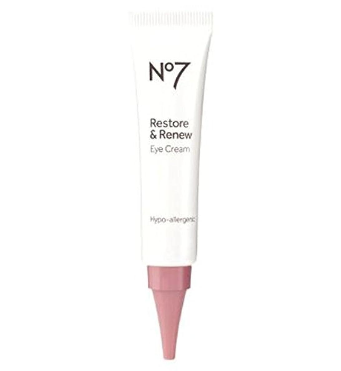 怖がらせるシエスタ発信No7 Restore & Renew Eye Cream - No7復元&アイクリームを更新 (No7) [並行輸入品]