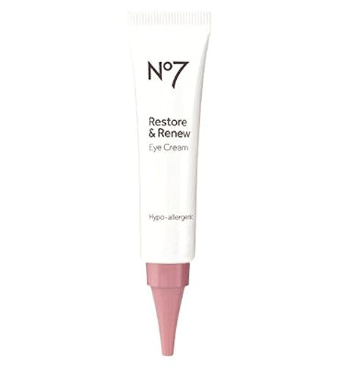 ポルトガル語連想野心No7 Restore & Renew Eye Cream - No7復元&アイクリームを更新 (No7) [並行輸入品]