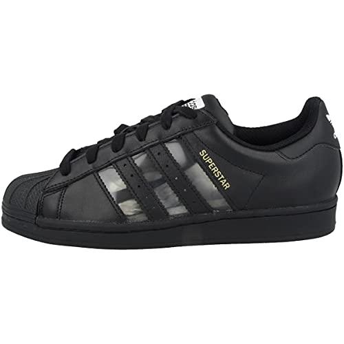 adidas Zapatillas para hombre Low Superstar, color Negro, talla 43 2/3 EU