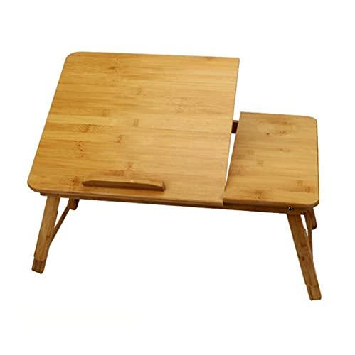Pieghevole Laptop Desk Bamboo Pieghevole Pieghevole Laptop Desk Bed A letto con Piccolo Tavolo Dormitorio Lazy Simpianto Scrivania Studio Scrivania Cappello Tappezzeria Taccuino Verticale Divano Piano