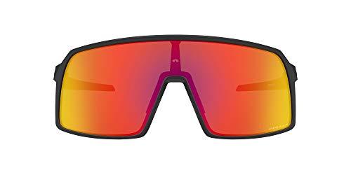 Oakley Men's OO9406A Sutro Asian Fit Rectangular Sunglasses, Matte Black/Prizm Ruby, 60 mm