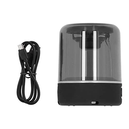 minifinker Haut-Parleur de Microphone Domestique, ABS + Verre TWS Haut-Parleur Bluetooth sans Fil Coque Transparente avec lumière respiratoire à LED pour Home Cinéma