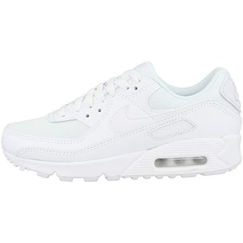 Nike Air Max 90 Women's Shoe, Scarpe da Corsa Donna, White/White-White-Wolf Grey, 39 EU
