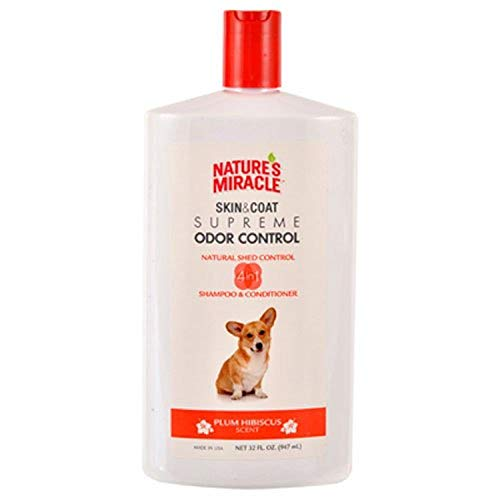 Nature's Miracle Supreme Odor Control Natural Shed Control Shampoo & Conditioner, 32 oz