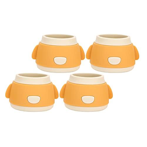 Almohadillas protectoras de pies para muebles, protector antirruido para mesa y patas de silla, reutilizables para el hogar(amarillo)