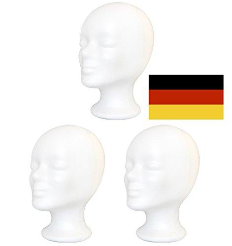 3 x Styroporkopf Standard - Deutsche Marken-Qualität