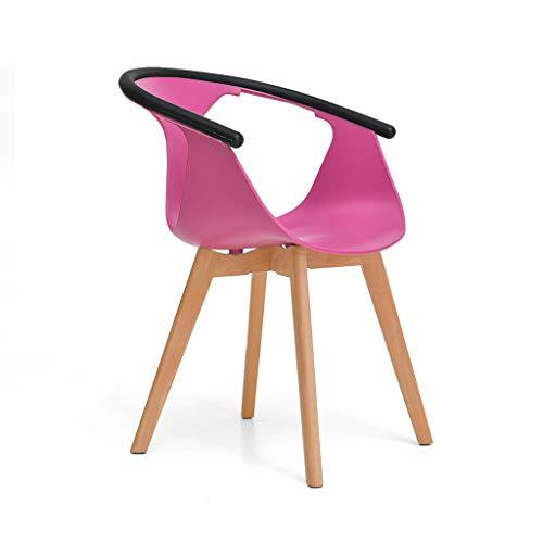 Jinxin-stools stoelen, Scandinavische stoel van massief hout Home bureaustoel moderne ligstoel eetkamerstoel van rugleuning armleuning van beukenhout