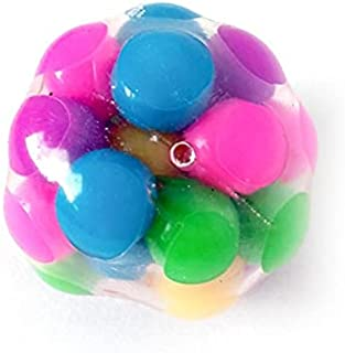 Squishy Rainbow Stress Ball Fidget Toy with DNA Colorful Beads Inside
