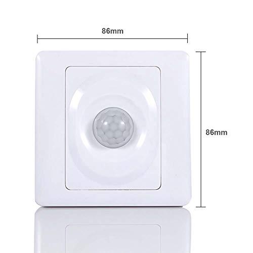 Knowooh PIR Bewegungsmelder 220V Automatische Infrarot Bewegungsmelder 5M Reichweite Wandhalterung LED Nachtlicht für Einsatz Schlafzimmer Fluren Treppenhäusern