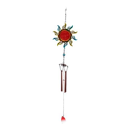 YL-adorn art Wind Chimes, Un Jardin Extérieur Et Intérieur Carillon À Vent avec Natural Apaisants, Creative Red Sun Wind Chimes Tube Et S Crochets, pour La Décoration De La Maison Cadeaux De Noël