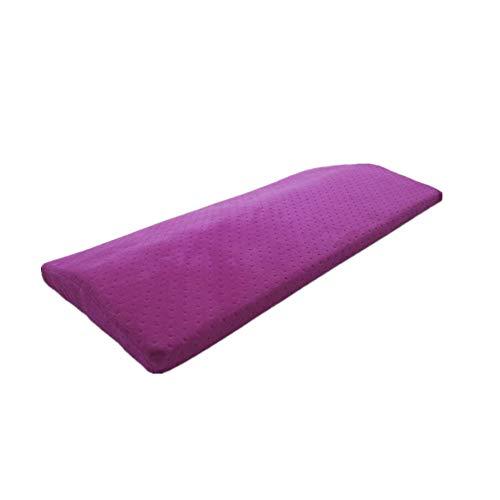 Ecloud Shop® Schlafkissen Memory Foam Nackenpolster Rücken Lordosenstütze Kissen Multifunktionskissen für Schmerzen im unteren Rückenbereich Hüfte Knie- und Gelenkschmerzen Linderung (Lila)