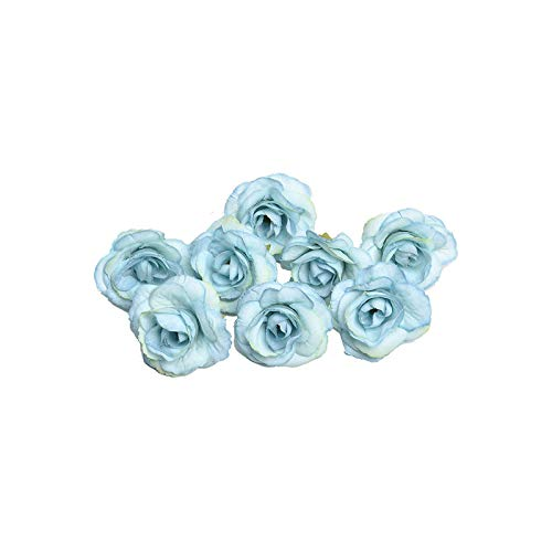 Fake Flower Artificial Flower, 50 Pieces 4 cm Silk Rose Head for Wedding Home DIY Garland Scrapbook Gift Box Craft Flower 8-5 Pieces