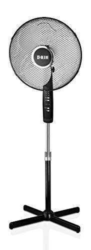 HJM FS-40MD Ventilador pie, 45 W, Plástico/Metal, 3 Velocidades, Negro