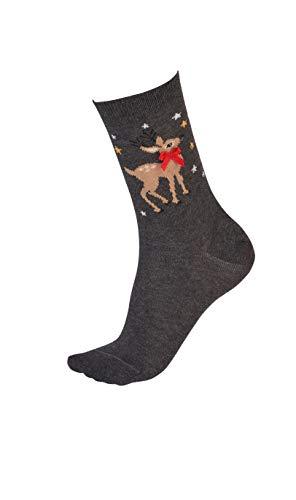 Pretty Polly Weihnachts Damen Socken OneSize Reindeer Socks - V2AVS6