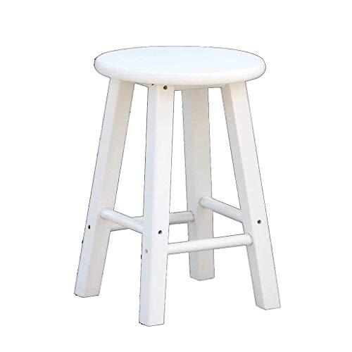 Keuken Ontbijt Barkruk in Finish |Massief houten eetkamerstoel |Houten Keuken Seat Geschikt for ontbijt Bar Tables (Kleur: Wit, Maat: 30 * 80cm) HAOSHUAI (Color : White, Size : 30 * 80cm)