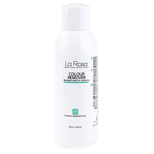 La Rosa Nagellackentferner ohne Aceton, Acetonfrei Nagellack-Entferner - COLOUR REMOVER LIQUID - Acetone-free nail polish remover, 500 ml