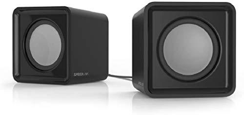 Speedlink TWOXO Stereo Speakers - USB-Lautsprecher mit Klinkenstecker für Gaming und Musik an PC/Notebook/Laptop, schwarz