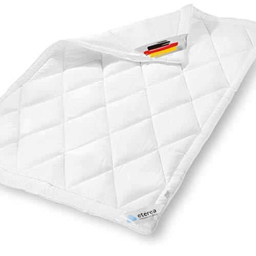 etérea Microfaser Steppdecke - Frieda Medisoft - 95° waschbar, Kochfest & Allergiker geeignet - Sommer Steppbett, 155x200 cm, Weiß, Bettdecke Made in Germany
