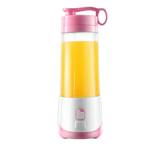 Best Bargain NJLC Portable Juicer, Rechargeable Mini Juicer Juice Machine,Pink