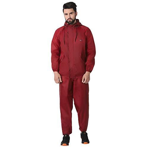 Wildcraft Unisex E Plus Hypadry Rain Cheater Suit (41310, Maroon, XL)