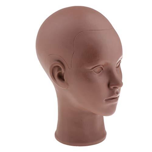 dailymall 20 '' De PVC Cosmetology Maquillage Mannequin Tête Perruque Chapeau Casque