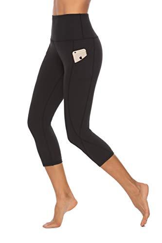 SERHOM Yoga Pants, High Waist Tummy Control Workout Women Yoga Leggings with Pockets S
