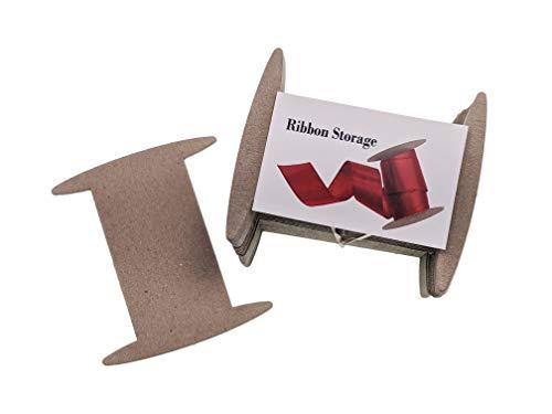 Ribbon Storage Ribbon Spools (50 spools) - Craft Organizer-Wrapping Paper Storage-Bin-Storage Cabinet Organization-Twine Storage Wrapping GiveThanks with a Ribbon Card (Medium)