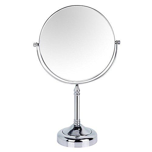 Gurun 15 cm Double Face pivotante sur pied avec grossissement 10 x, miroirs de salle de bain finition chrome m2251