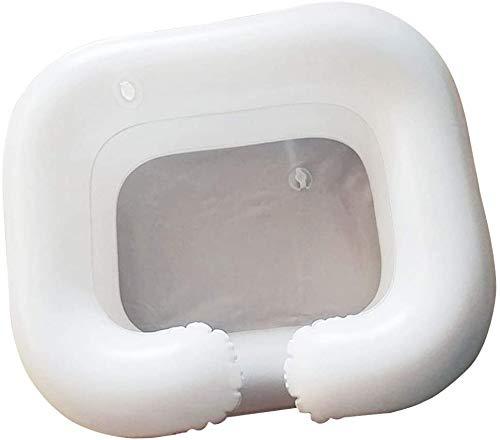 Pineocus Lavabo hinchable portátil con tubo de drenaje,Lavamuba inflable portátil para cama y cama para ancianos,lavacabezas portatil casa,lavacabezas hinchable,sistema de ducha para ancianos