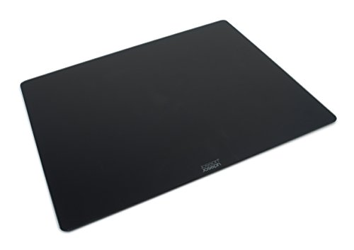 Joseph Joseph Worktop Saver Glass Cutting Board and Serving Board Heat Resistant, 15.8-in x 19.7-in, Black