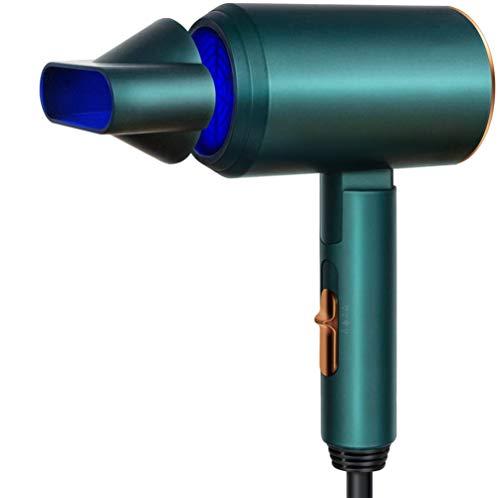 ZHANG Secador de Pelo, secador de Calidad de salón de Secado rápido con Accesorios de Boquilla, secador de Pelo Plegable Ligero para Viajes, Uso doméstico
