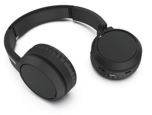 Philips H4205BK/00 Cuffie Bluetooth con Tasto Bass Boost, Bluetooth, 29 Ore di Riproduzione, Funzione Ricarica Rapida, Isolamento dai Rumori, Richiudibile, Modello 2020/2021, Nero