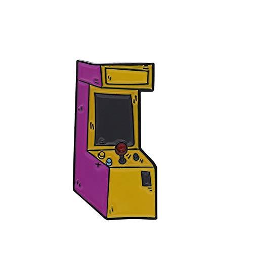 Sonnenhut Brosche Mode Retro Arcade-Spiel Konsole Spiel Griff Persönlichkeit Brosche Pin(01)