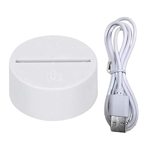 QiKun-Home Cable USB Abs Material Noche Interruptor de Luz Táctil Decoración del Hogar Práctica Y Duradera Dormitorio Luz de Noche Blanco